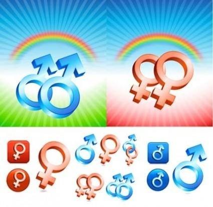 free vector Male and female symbols vector