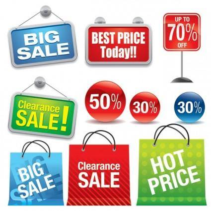 Shopping sales theme vector