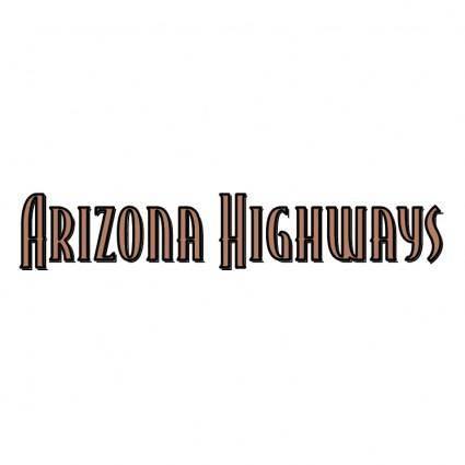 free vector Arizona highways