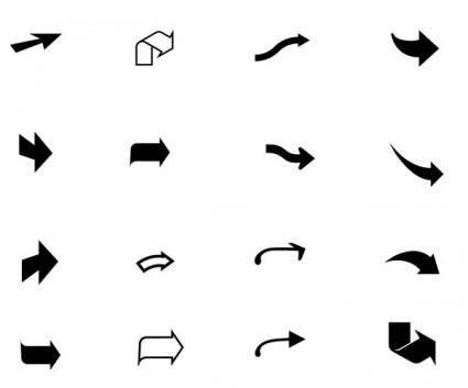 free vector Black arrow vector