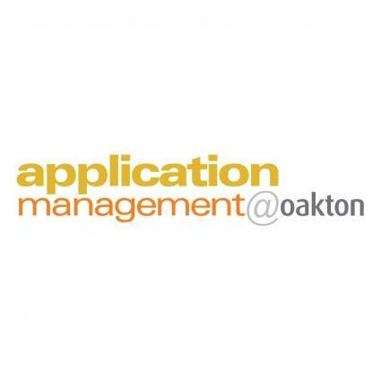 Application managementoakton