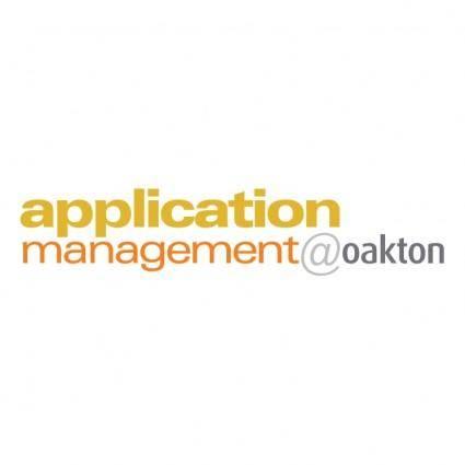 Application managementoakton