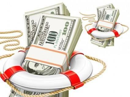 free vector Vector rope buoy dollar