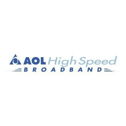 free vector Aol high speed broadband