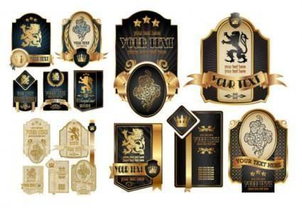 European royal flag label