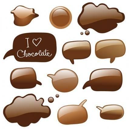 free vector Chocolate dialogue bubbles vector