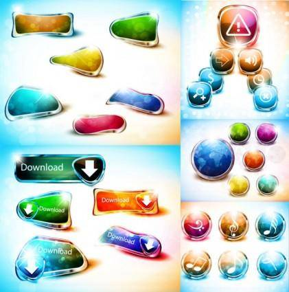 free vector Colorful buttons vector dream