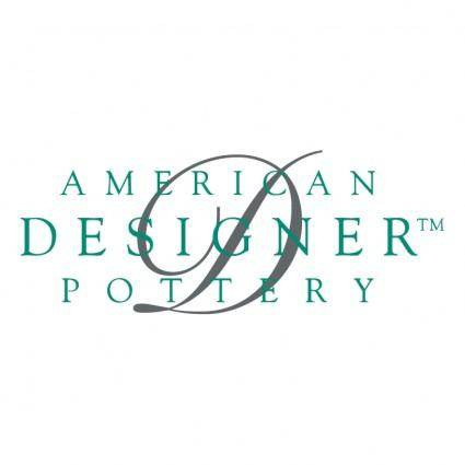 American designer pottery