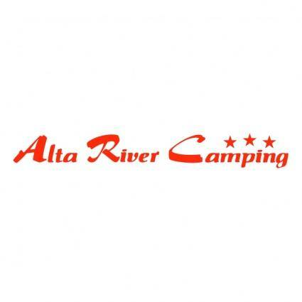 free vector Alta river camping