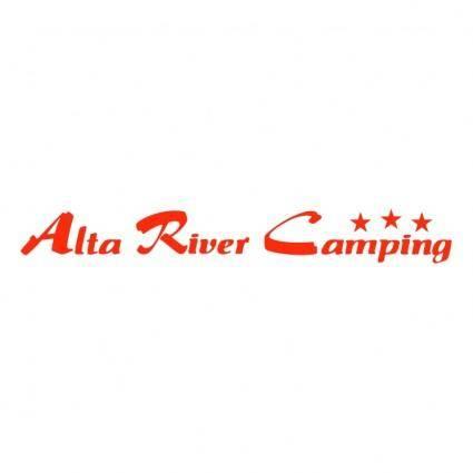 free vector Alta river camping