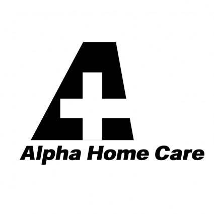 free vector Alpha home care