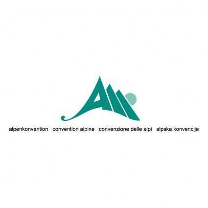 free vector Alpenkonvention