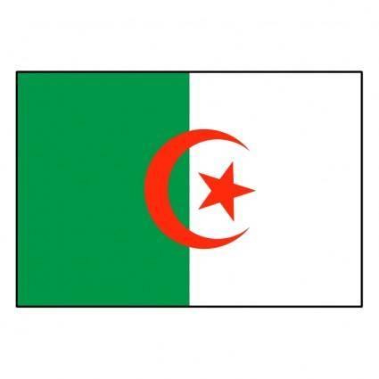 free vector Algerie drapeau