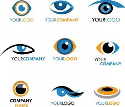 Eye graphics logo vector