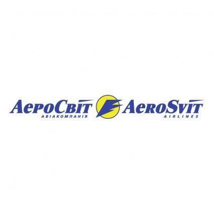 free vector Aerosvit airlines
