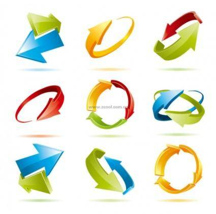 free vector Threedimensional effect of dynamic arrow vector
