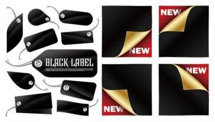 free vector Vector tag and sticker black