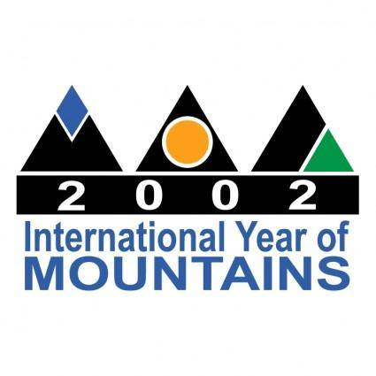 free vector 2002 international year of mountains