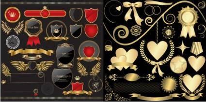 European elegant style label vector