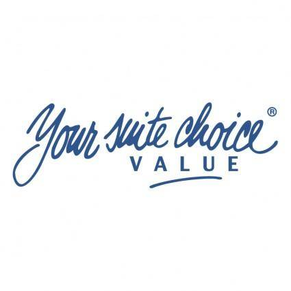 Your suite choice value