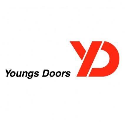 free vector Youngs doors