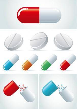 free vector Capsules vector