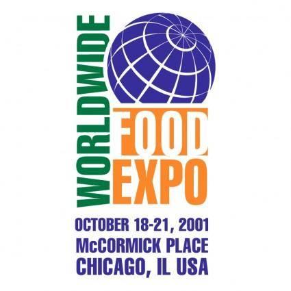 free vector Worldwide food expo