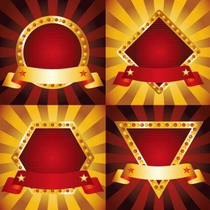 free vector Europeanstyle ribbon shape vector