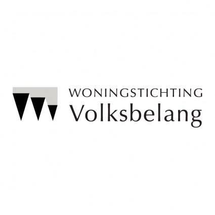 free vector Woningstichting volksbelang