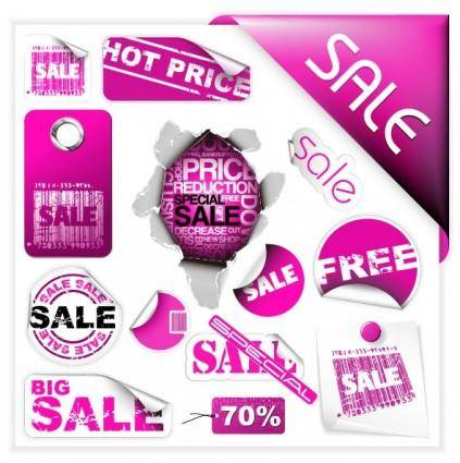 Purple discount sales vector