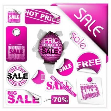 free vector Purple discount sales vector