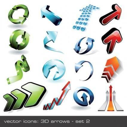 free vector 16 cool 3d stereoscopic arrow vector