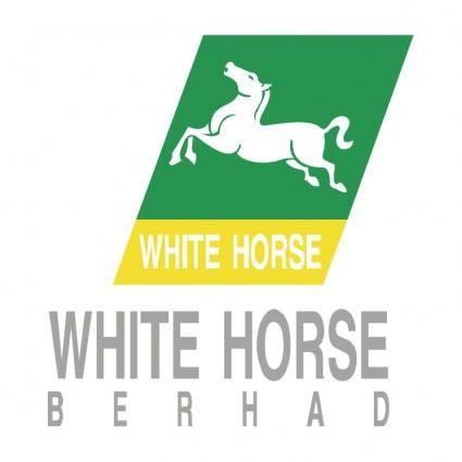 free vector White horse