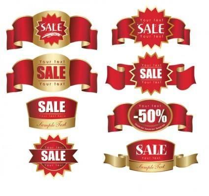 Discount label sales vector