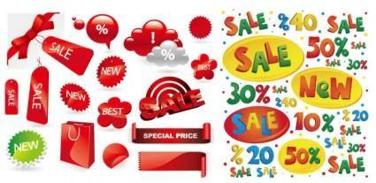 Exquisite decorative elements vector sales