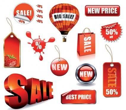 free vector Salesrelated decorations vector