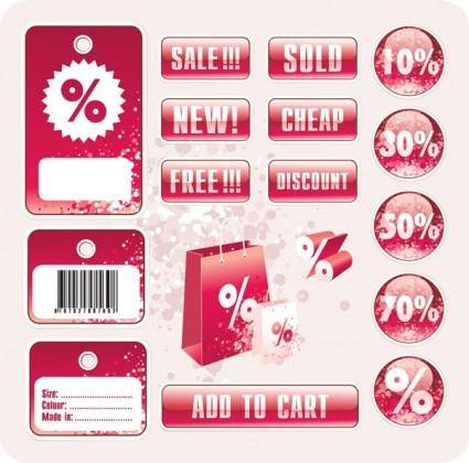 free vector Discount tag vector store sales