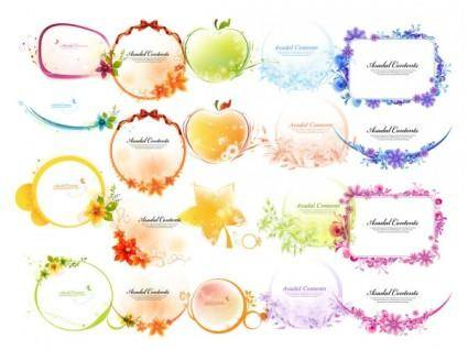 free vector 5 various shapes lace border vector