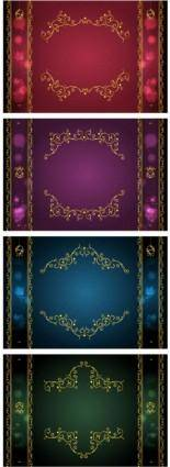 free vector Classical gold lace border vector