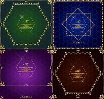 free vector Gorgeous gold lace border vector 9
