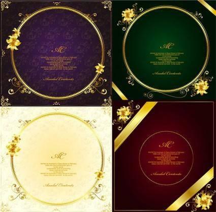 Gorgeous gold lace border vector 10