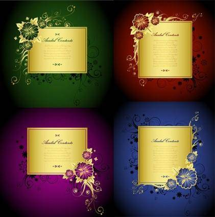 Gorgeous gold lace border vector 2