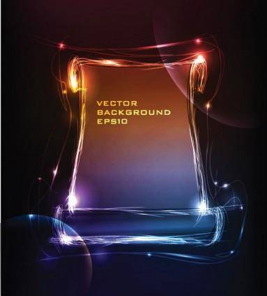 free vector Light frame composed of vector 2
