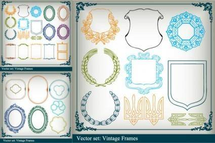 free vector Variety of graphical borders clip art
