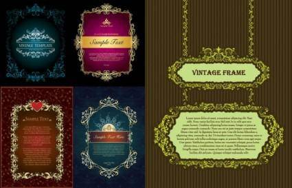 5 classic european lace vector