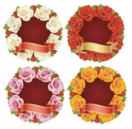 Rose and ribbon vector
