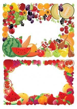 free vector 2 fruit border vector