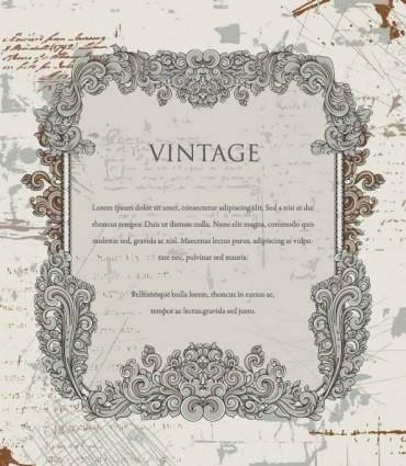 European gorgeous retro lace vector