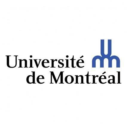 free vector Universite de montreal 0