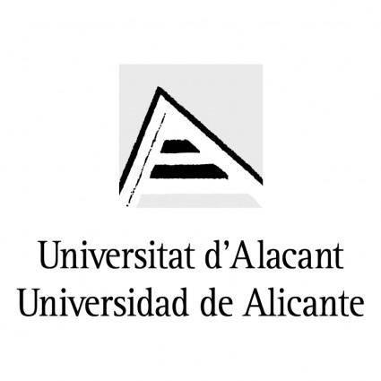 free vector Universidad de alicante 0
